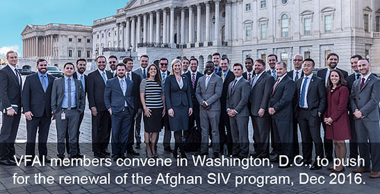VFAI Members Convene in Washington, DC to push for the renewal of the SIV Program.